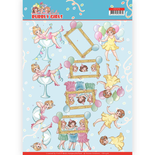 Knipvel Yvonne Creations - Bubbly Girls Party CD11476