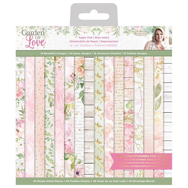 Paper Pad Crafters Companion - Garden of Love (6 x 6 inch)