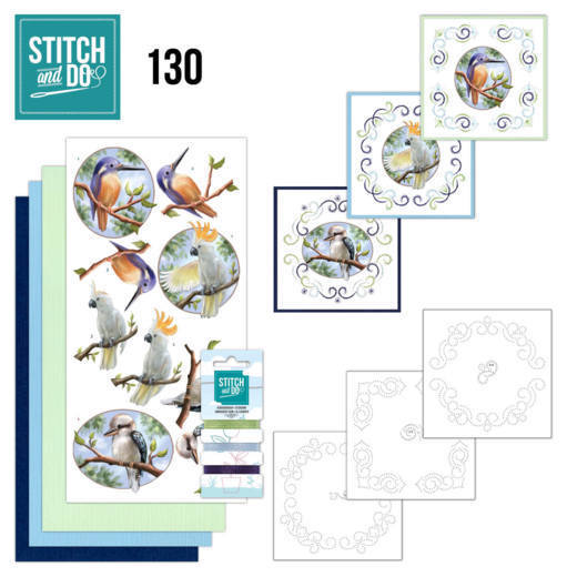Stitch and Do Pakket 130 - wild animals outback