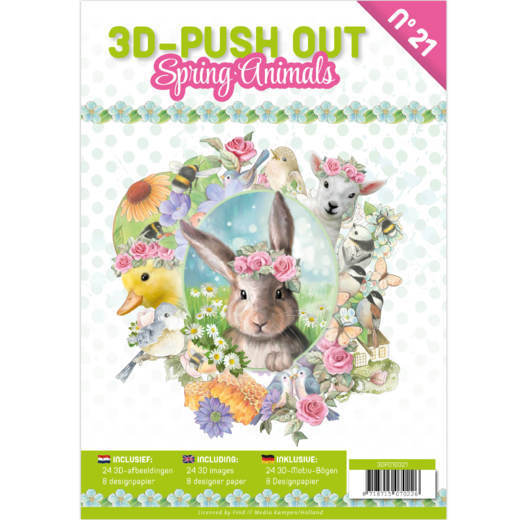 3D Push Out Book - spring animals