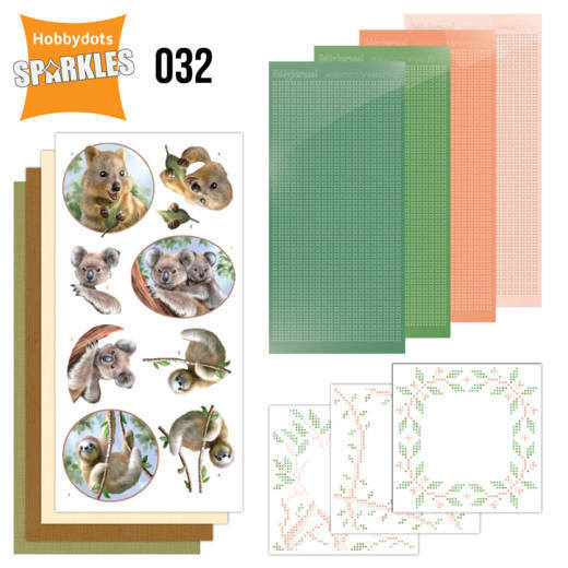 Hobbydots Sparkles set 032 - Wild Animals Outback