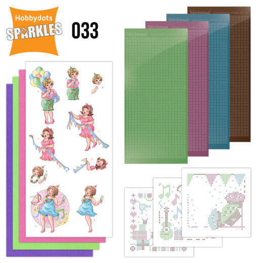Hobbydots Sparkles set 033 - Bubbly Girls Party