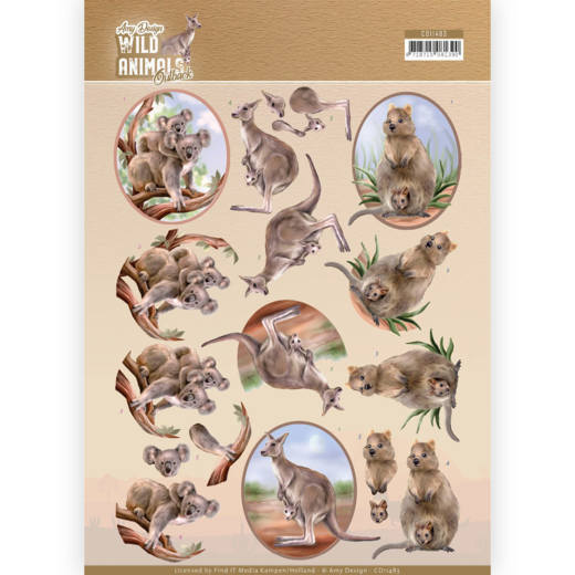 Knipvel Amy Design - Wild Animals Outback CD11483
