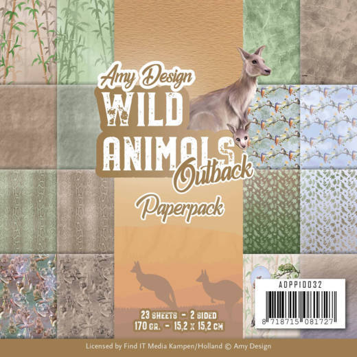Paper Pack Amy Design - Wild Animals Outback