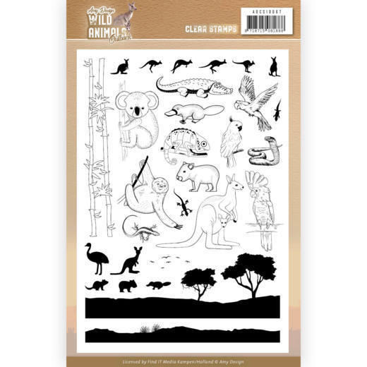 Clearstamps Amy Design - Wild Animals Outback