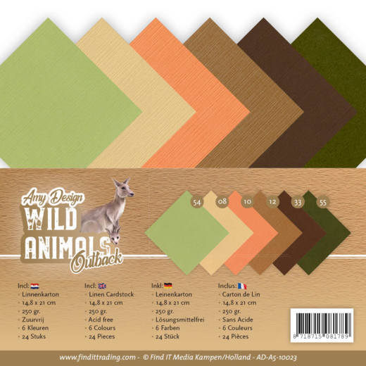 Linnenkarton Amy Design - Wild Animals Outback (A5)