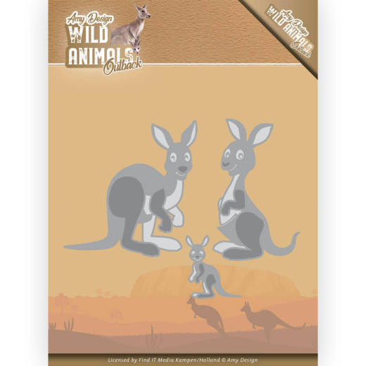 Amy Design Stans - Wild Animals Outback - kangaroo
