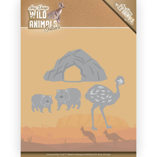 Amy Design Stans - Wild Animals Outback - emu and wombat