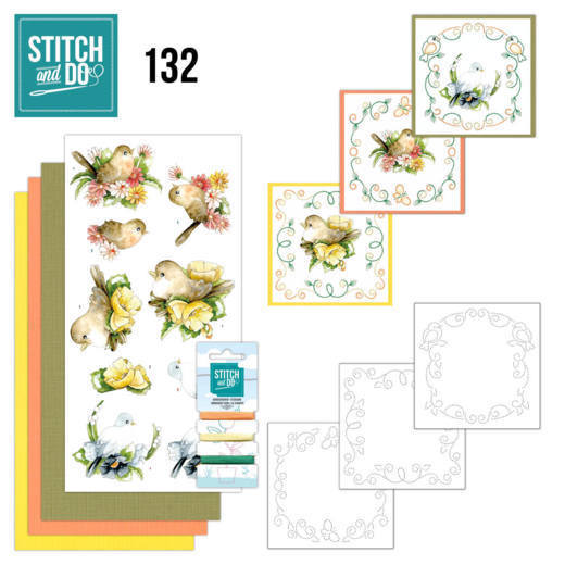 Stitch and Do Pakket 132 - birds