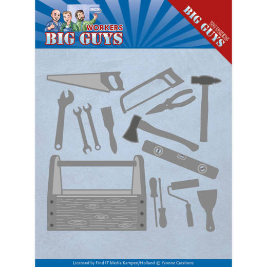 Yvonne Creations Stans - Big Guys Workers - handyman tools