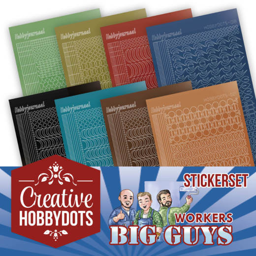 Stickerset bij Creative Hobbydots 2 - Yvonne Creations - Big Guys Workers