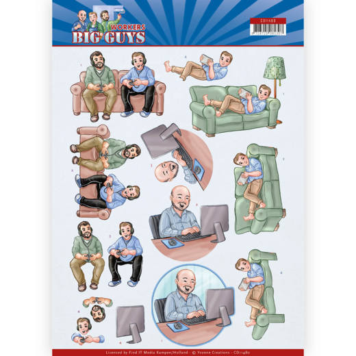 Knipvel Yvonne Creations - Big Guys Workers CD11480