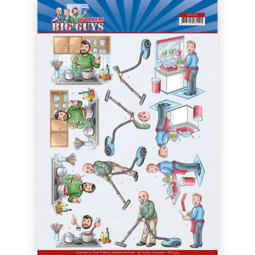 Knipvel Yvonne Creations - Big Guys Workers CD11479