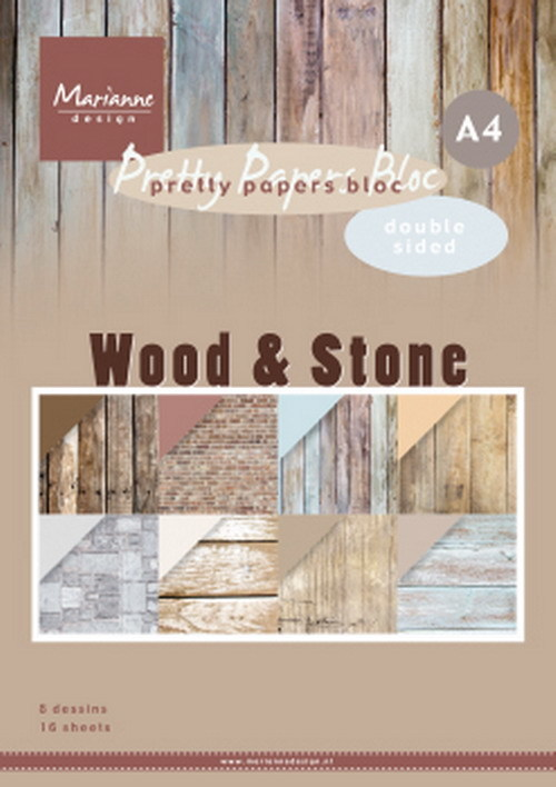 Pretty Papers Bloc - Wood & Stone