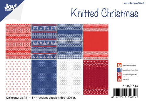 Joy Paper Pack - knitted christmas