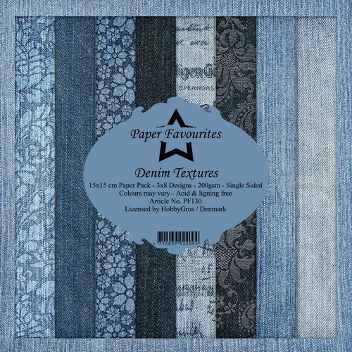 Dixi Craft Paper Pack - denim textures