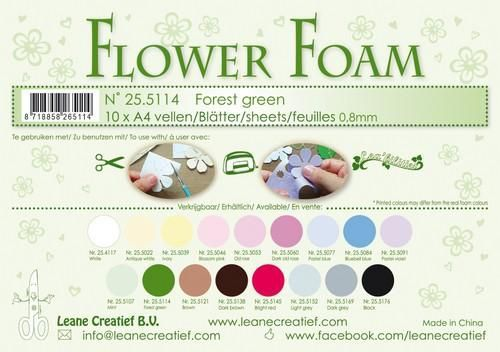 Flower Foam - forest green