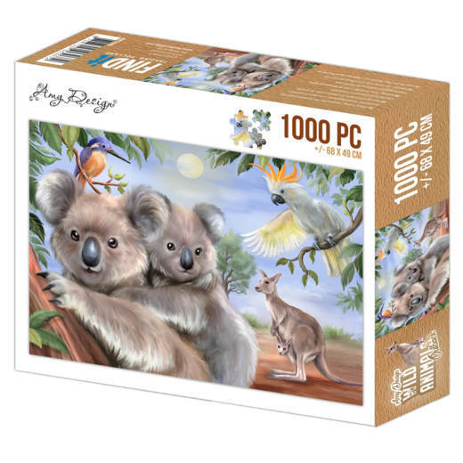 Puzzel Amy Design - wild animals outback