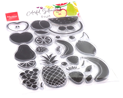 Marianne Design Clearstamps - Colorful Silhouettes - fruit