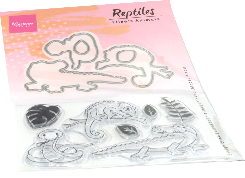 Marianne Design Clearstamps & Dies - Eline's Animals - reptiles