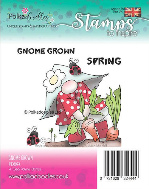 Polkadoodles Stempel - gnome grown