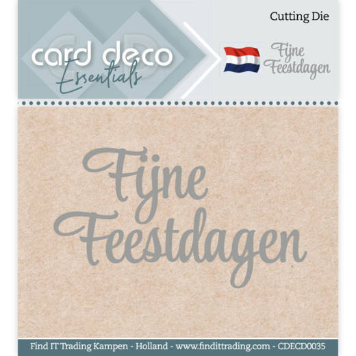 Card Deco Essentials Stans - fijne feestdagen
