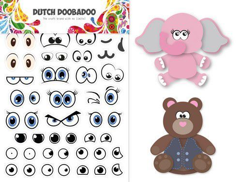 Dutch Doobadoo Sticker Art A5 - eyes