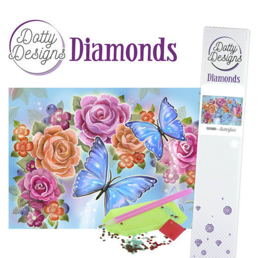 Dotty Designs Diamond Painting Pakket - butterfly