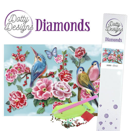 Dotty Designs Diamond Painting Pakket - birds