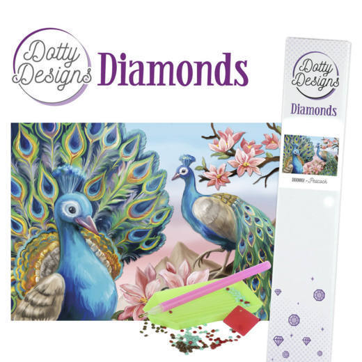 Dotty Designs Diamond Painting Pakket - peacock