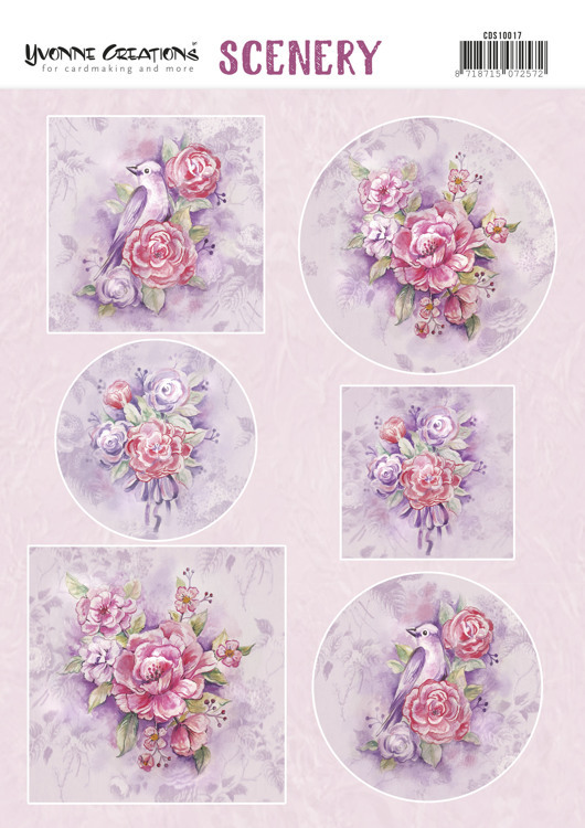 Stansvel Scenery - Yvonne Creations - pink flowers