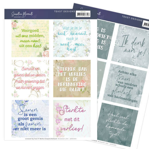 Tekst Designs Jeanine's Art - Sensitive Moments NL