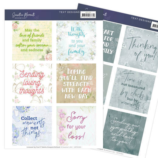 Tekst Designs Jeanine's Art - Sensitive Moments (Engels)