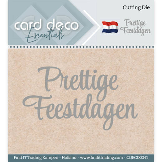 Card Deco Essentials Stans - prettige feestdagen