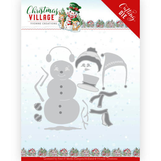 Yvonne Creations Stans - Christmas Village - build up snowman