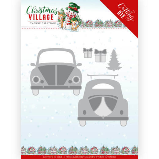 Yvonne Creations Stans - Christmas Village - christmas car