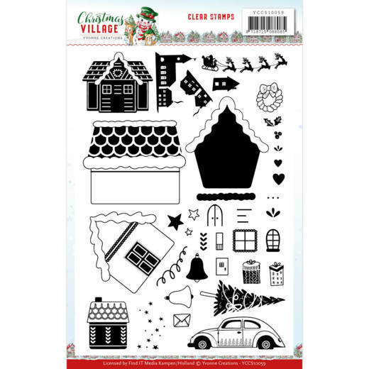 Clearstamps Yvonne Creations - christmas village