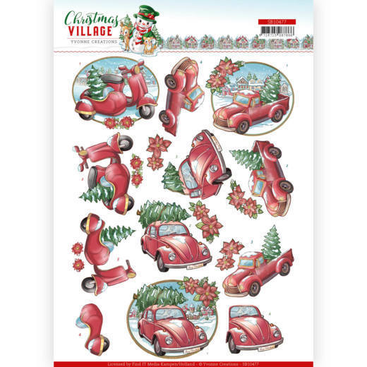 Stansvel Yvonne Creations - Christmas Village SB10477