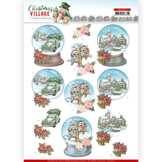 Stansvel Yvonne Creations - Christmas Village SB10476