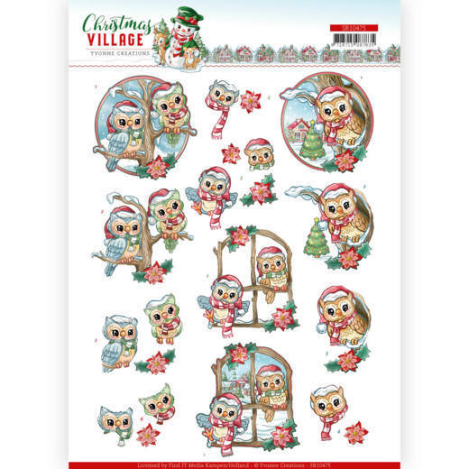 Stansvel Yvonne Creations - Christmas Village SB10475