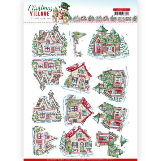 Stansvel Yvonne Creations - Christmas Village SB10474