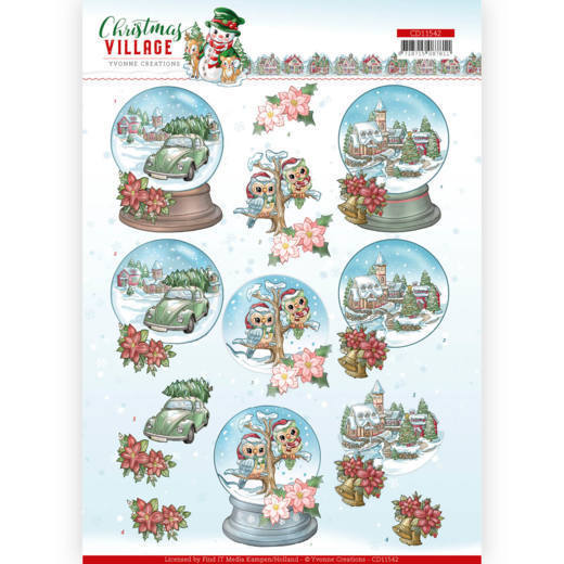 Knipvel Yvonne Creations - Christmas Village CD11542