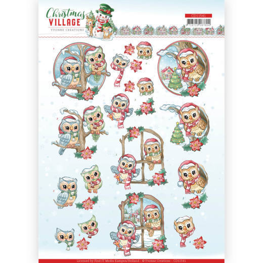 Knipvel Yvonne Creations - Christmas Village CD11541