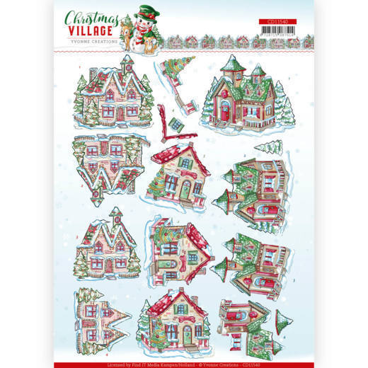 Knipvel Yvonne Creations - Christmas Village CD11540