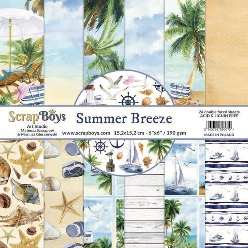Paper Pad ScrapBoys - Summer Breeze - 6 x 6 inch