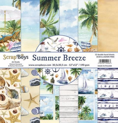 Paper Pad ScrapBoys - Summer Breeze - 12 x 12 inch
