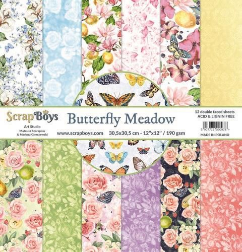 Paper Pad ScrapBoys - Butterfly Meadow - 12 x 12 inch