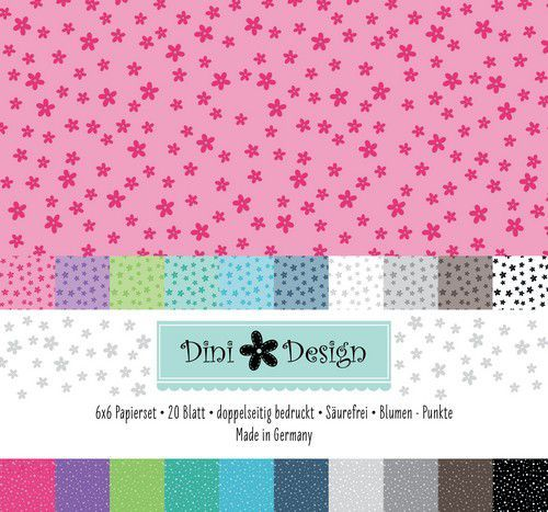 Paper Pad Dini Design - flowers / dots