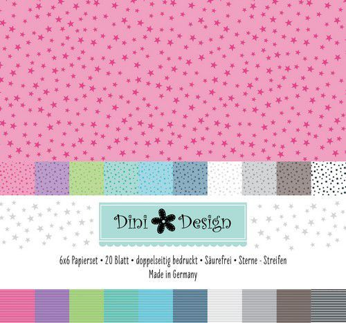 Paper Pad Dini Design - stars / stripes