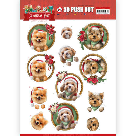 Stansvel Amy Design - Christmas Pets SB10465